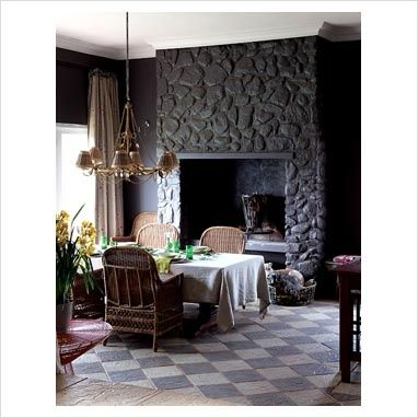 Painted Stone Fireplace Painted Stone Fireplace Painted Rock