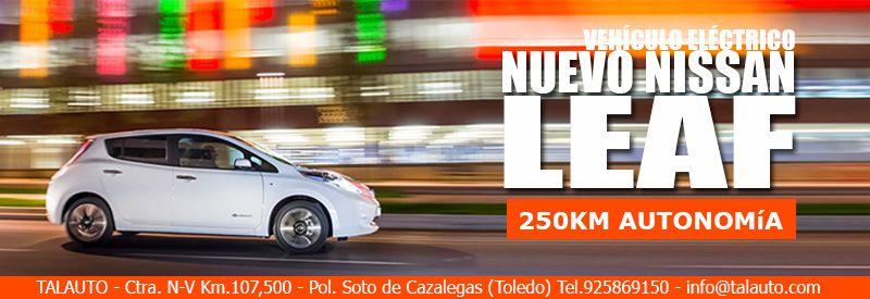 Descubre en Talauto el Nuevo Nissan LEAF, el vehículo eléctrico con 0 emisiones. #talauto #grupotalauto #nissanleaf