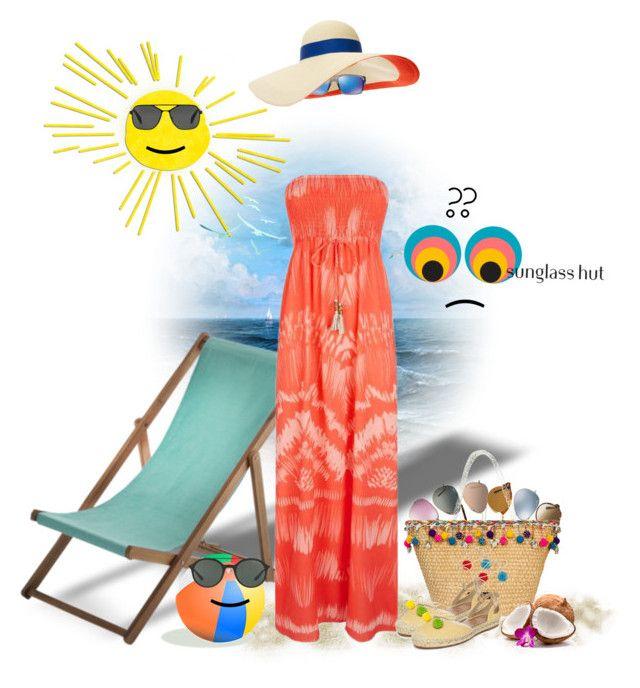 """Shades of You: Sunglass Hut Contest Entry"" by dadanana ❤ liked on Polyvore featuring Ray-Ban, Miu Miu, Eugenia Kim, Caffé, Oakley, Heidi Klein, Aquazzura, Prada, Giorgio Armani and shadesofyou"