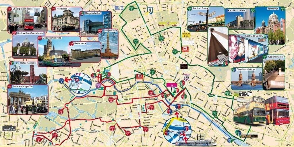 Map of Berlin Tourist | Karten
