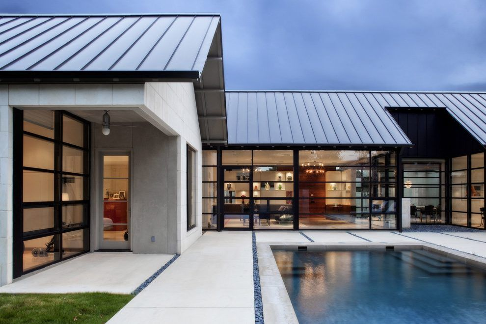 Modern gable roof design exterior contemporary with open ...