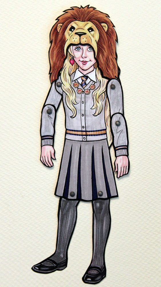Luna Lovegood Articulated Paper Doll with by ArdentlyCrafted
