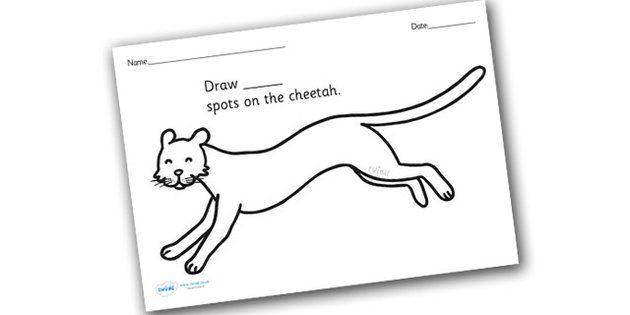 Cheetah Spots Math Worksheet Google Search Coloring Sheets