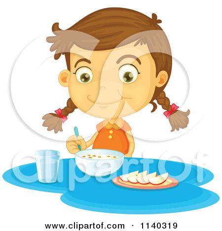 eat breakfast clipart google search get ready chart pinterest rh pinterest com girl eating breakfast clipart boy eating breakfast clipart