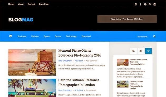 Blogmag responsive blogger template coupons pinterest template blogmag responsive blogger template friedricerecipe Images