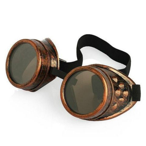 These stainless steel goggles are perfect for your steampunk outfits. Patterned after the welding goggles during the industrial age, these will surely make your gothic and vintage looks more authentic                                                                                                                                                     More