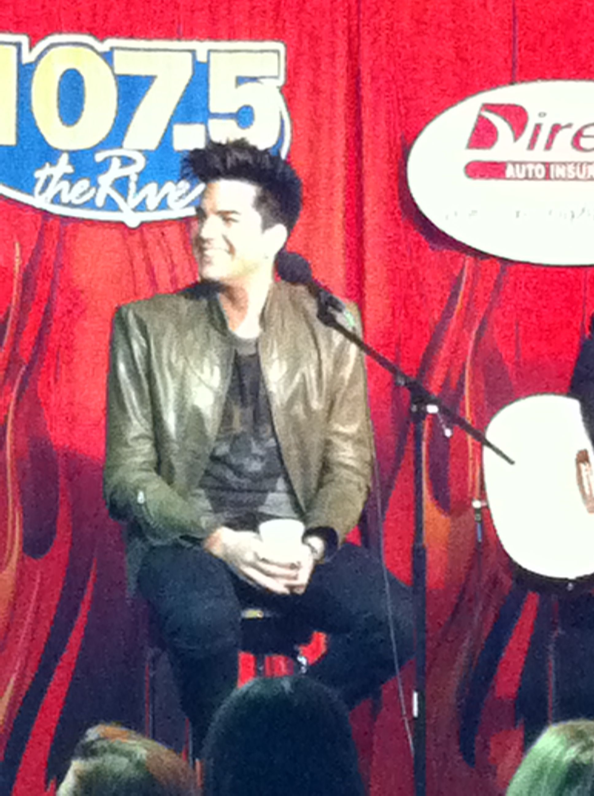 Adam Lambert At 1075 The River S Direct Auto Insurance Garage