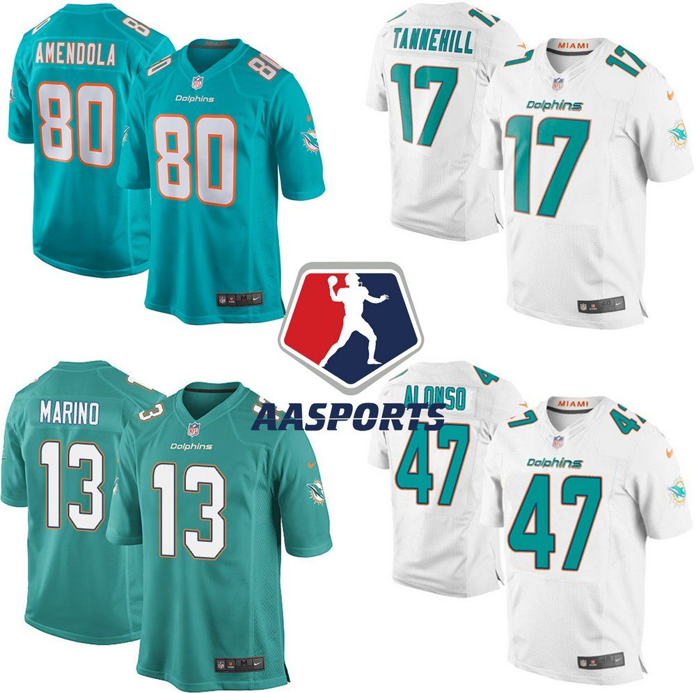 f0b96407d Camisa Miami Dolphins - 80 Danny Amendola - 91 Cameron Wake - 47 Kiko  Alonso -