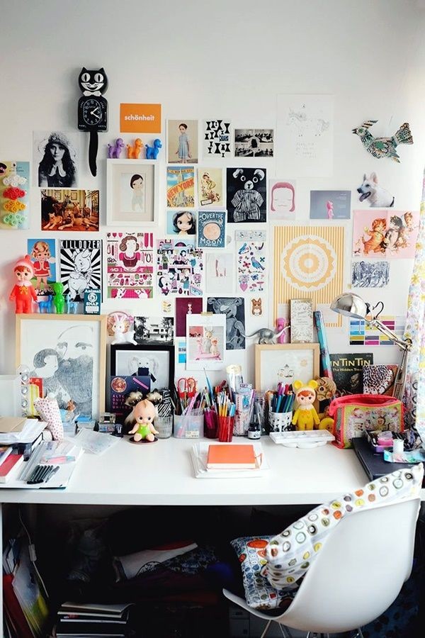 40 Amazing Workspace Set-Ups to Keep You Focused #collageboard