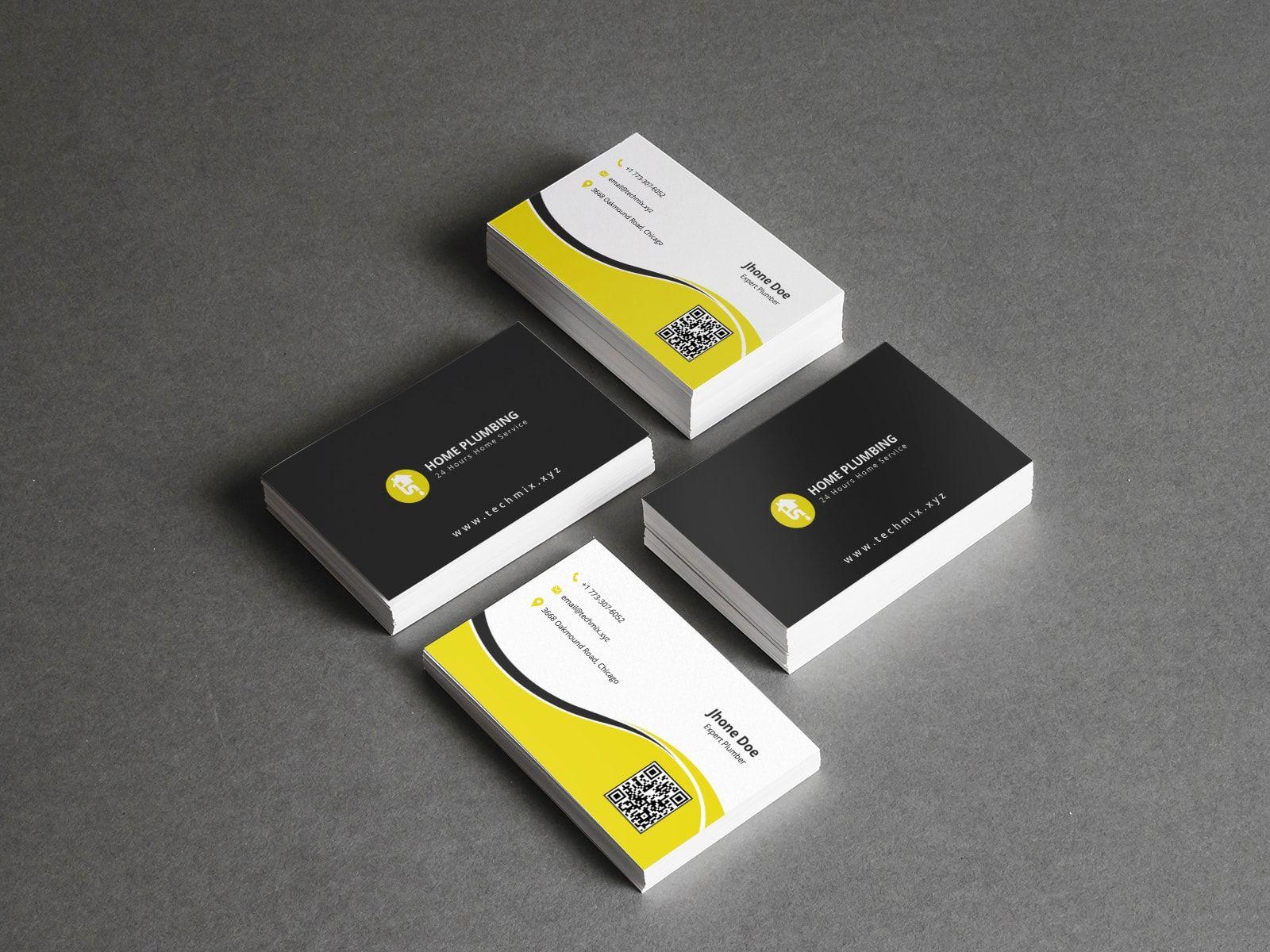 Best Plumbing Business Card Design Business Card Design Card Design Business Cards Collection