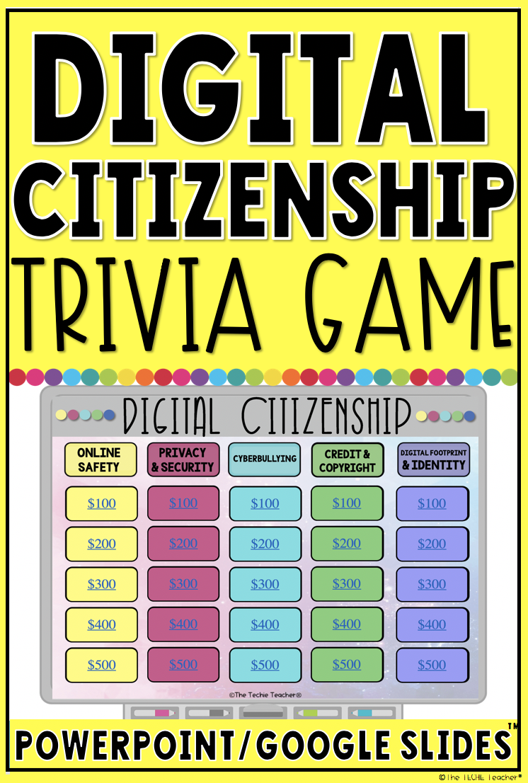 digital citizenship trivia game in powerpoint and google slides