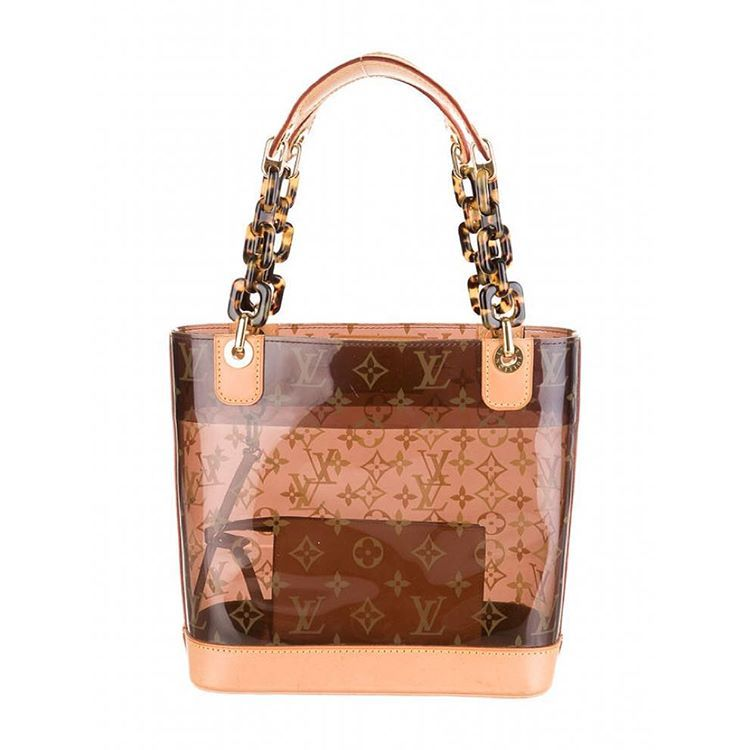 "e5bba9db1 ""Rare Louis Vuitton Limited Edition 2003 Cruise Collection Brown Monogram  Vinyl Ambre Cabas PM Tote Bag only $880 in excellent preowned condition  with…"""