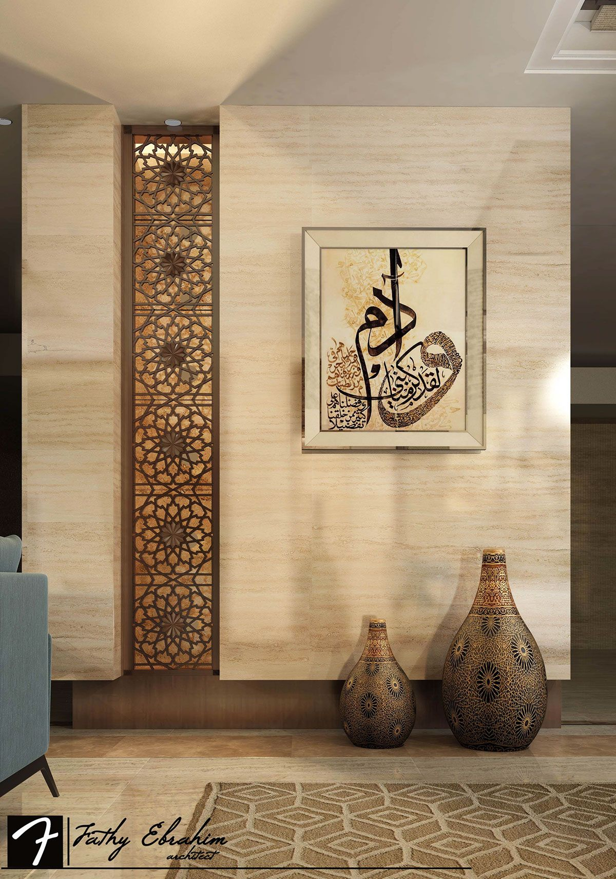 Modern Islamic Interior Design On Behance In 2019 Foyer