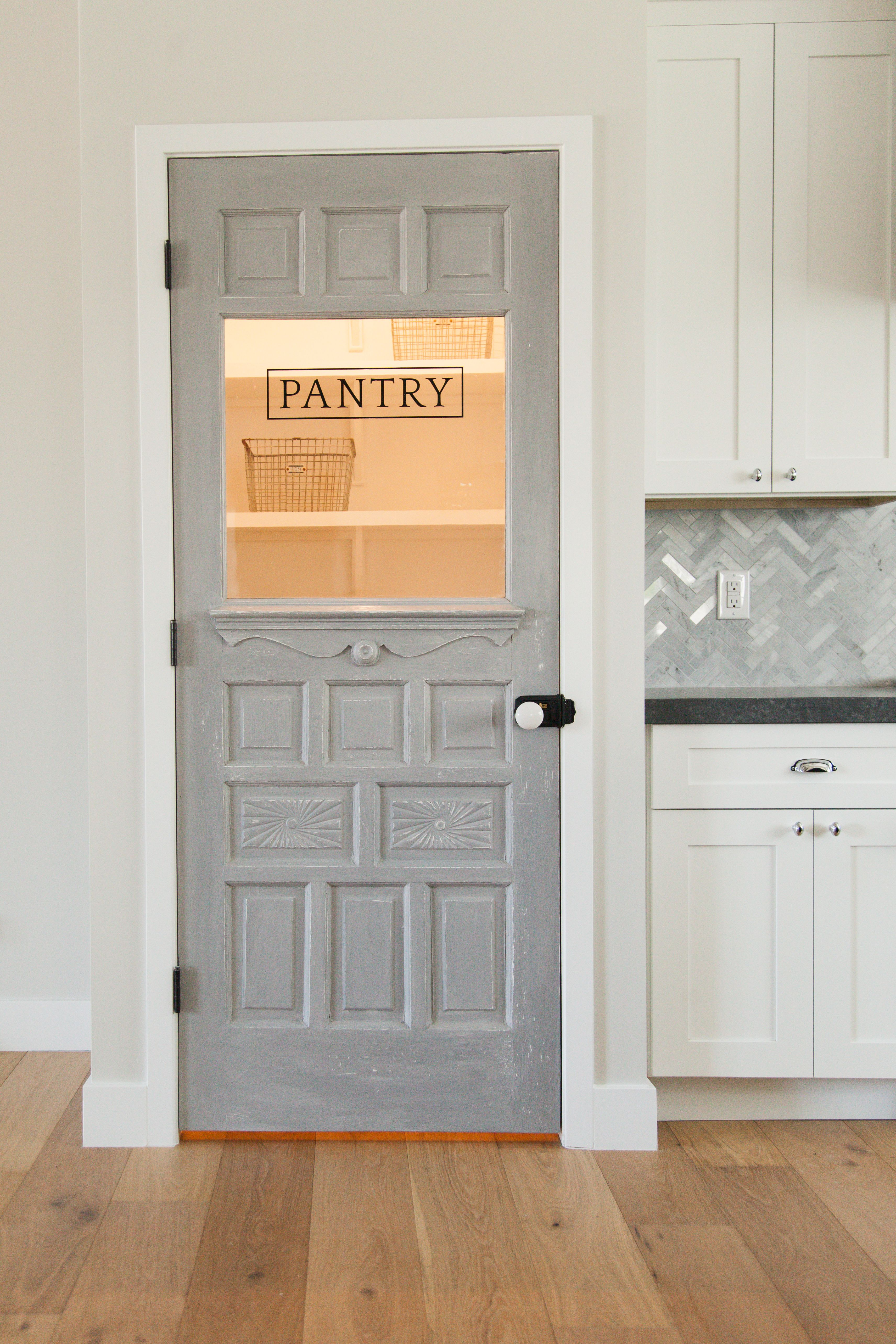 Antique door repurposed as a pantry door by rafterhouse for Pantry door ideas