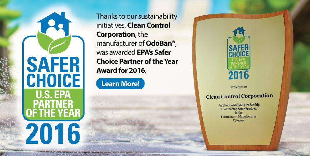 Clean Control was awarded EPA's Safer Choice Partner of the Year Award for 2016.
