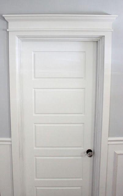 Diy Door Trim Tutorial Interior Door Trim Moldings And Trim
