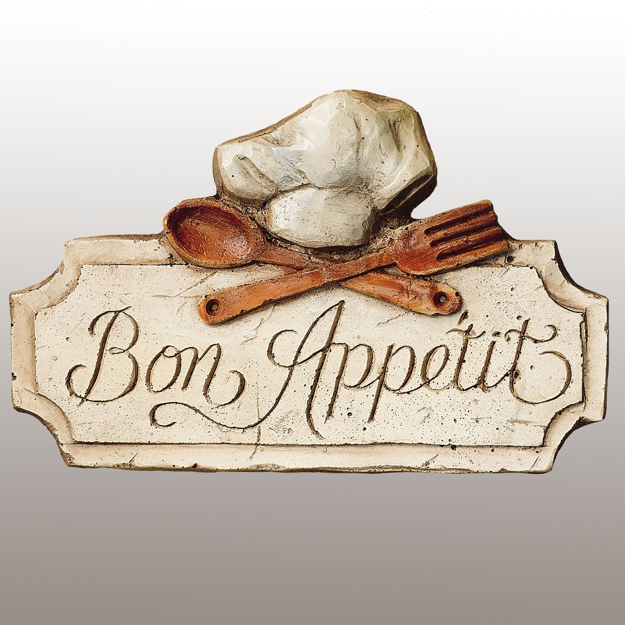 Bon Appetit Kitchen Wall Plaque