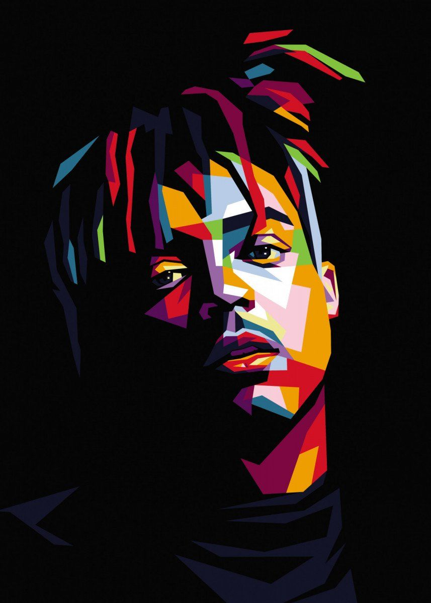 juice wrld american rapper Pop Art Poster Print | metal posters - Displate