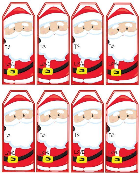 Santa Claus Gift Tags Printable Christmas Tags Christmas QT\u0027s