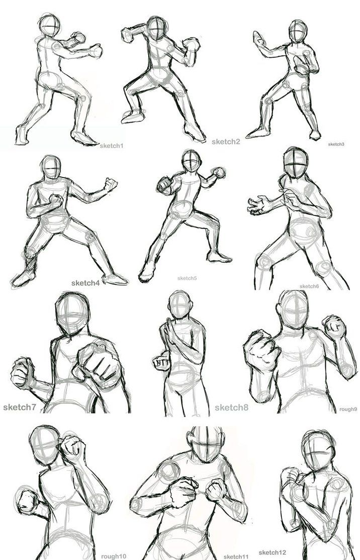 Practice 1 rough action poses by allysao on deviantart