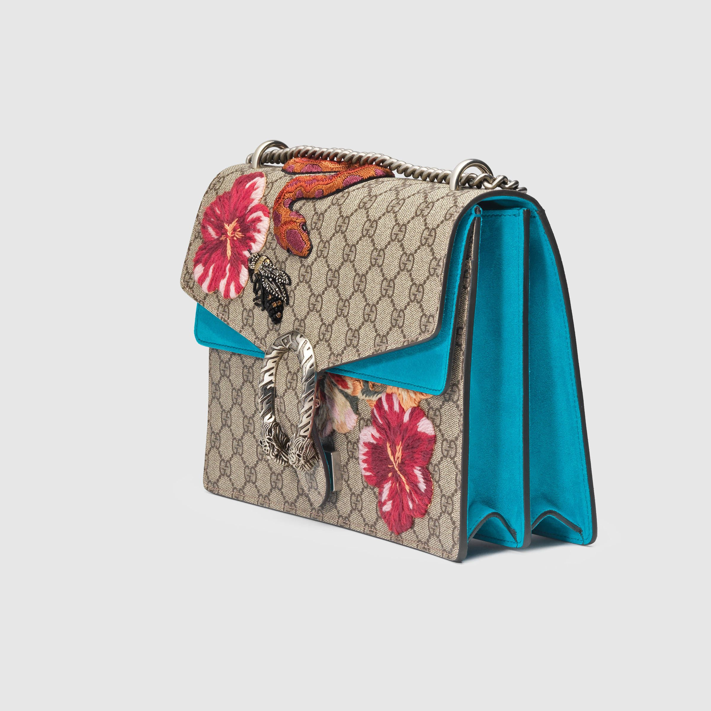 6e2c872f9187 Gucci Women - Dionysus GG Supreme embroidered bag - 400235KHNVN8786 ...