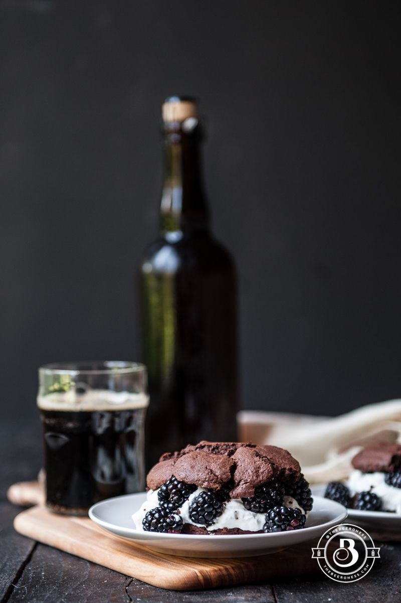Chocolate Stout & Blackberry Shortcakes