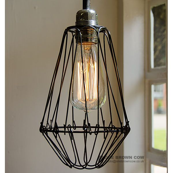 Wire light shade wire center industrial look large black wire cage light shade lighting rh pinterest ca wire light shade lampshade wire keyboard keysfo Image collections