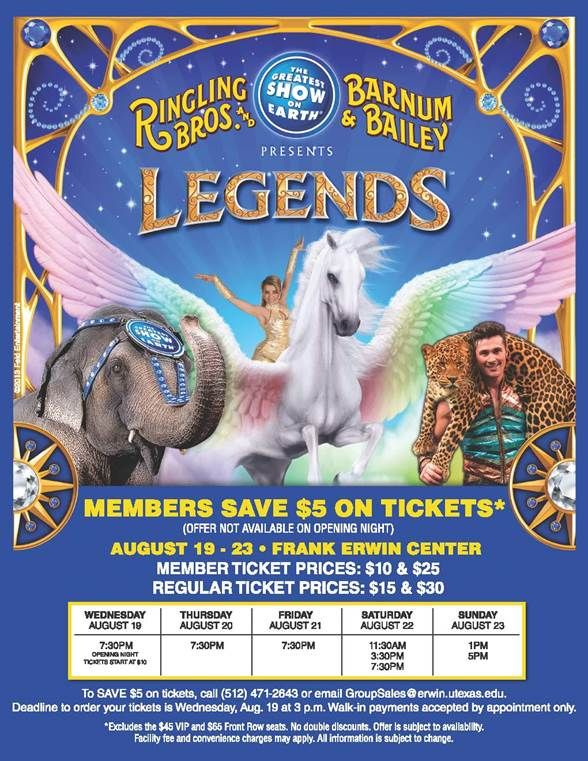 Ringling Bros and Barnum & Bailey Presents LEGENDS ℠ | Macaroni Kid
