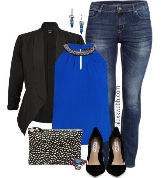 Plus Size Outfit - Night Out In Blue | Black blazers Blazers and Night out
