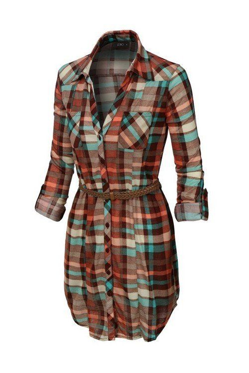 Dress it up in one of these season's hottest trends; shirt dresses! Wear with boots or wedges. 100% Poly. Imported. Fits true to size: Small 2/4, Medium 6/8, Large 10/12, XL 14/16 ***SHIPS LATE AUGUST