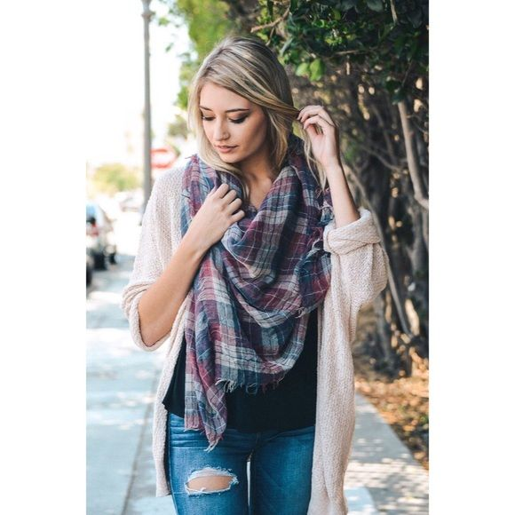 likeNarly Accessories - -COMING SOON- Got Plaid? Lightweight Plaid Scarf