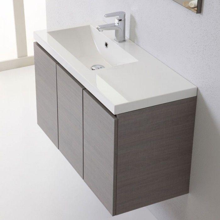 Lavandino Bagno Profondo 40 Cm.Mobile Sospeso Per Bagno Moderno Da 90 Cm Con Ante Arredamento Bagno Mobile Bagno Bagni Moderni