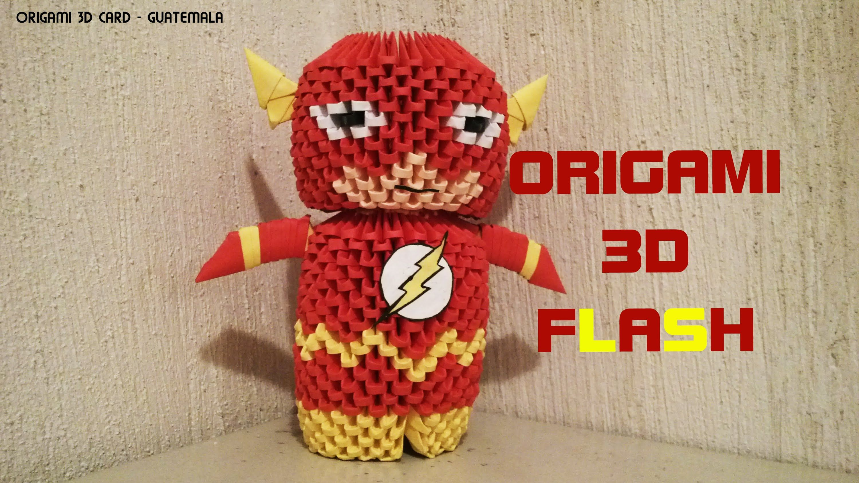 Origami 3d flash superheroe 3d origami u tube pinterest origami 3d flash superheroe jeuxipadfo Image collections
