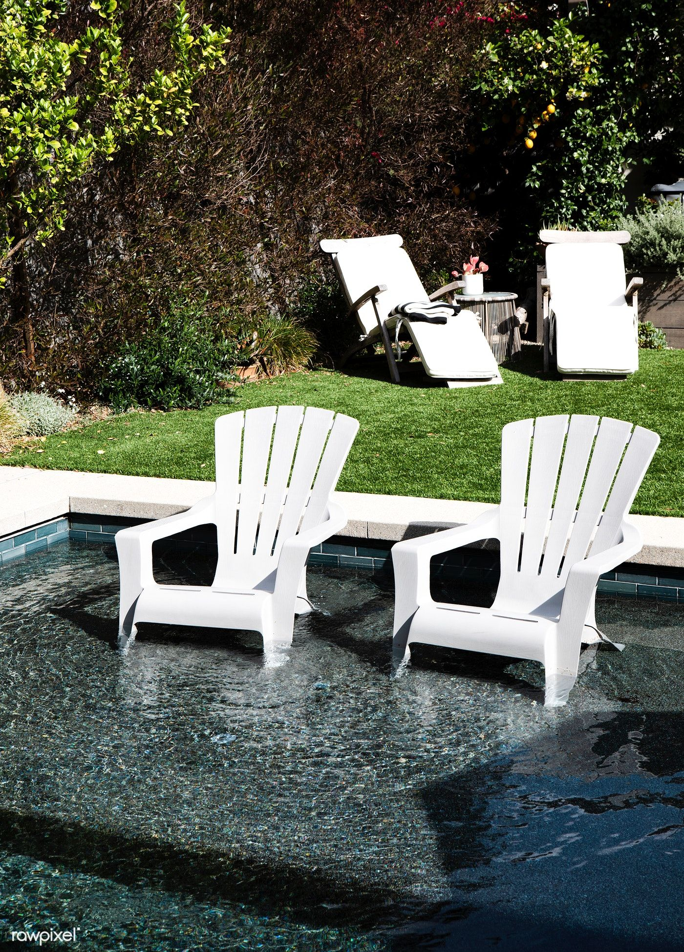 White Plastic Chairs In A Pool Free Image By Rawpixel Com Mckinsey Photography Photos White Plastic Chairs Plastic Chair Chair Photography