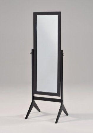 Black Finish Wooden Cheval Bedroom Free Standing Floor Mirror Floor Mirror Body Mirror Wood Wall Mirror