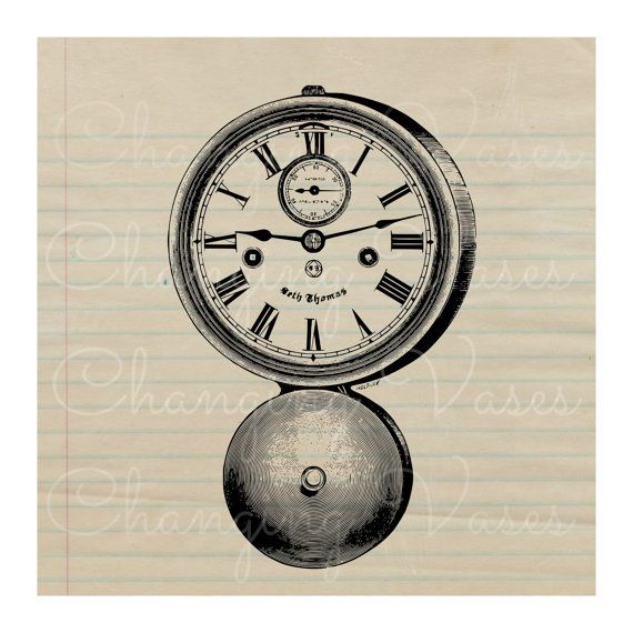 Digital Download Vintage Wall Clock with Bell by ChangingVases, $1.50