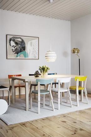 Esszimmerstühle bunt  Bunte Esszimmerstühle aus Holz | Pinterest | Eßzimmerstühle, Bunt ...
