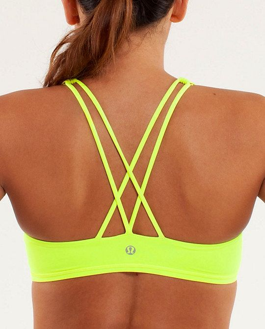48ac37d5ac I want this neon lulu sports bra