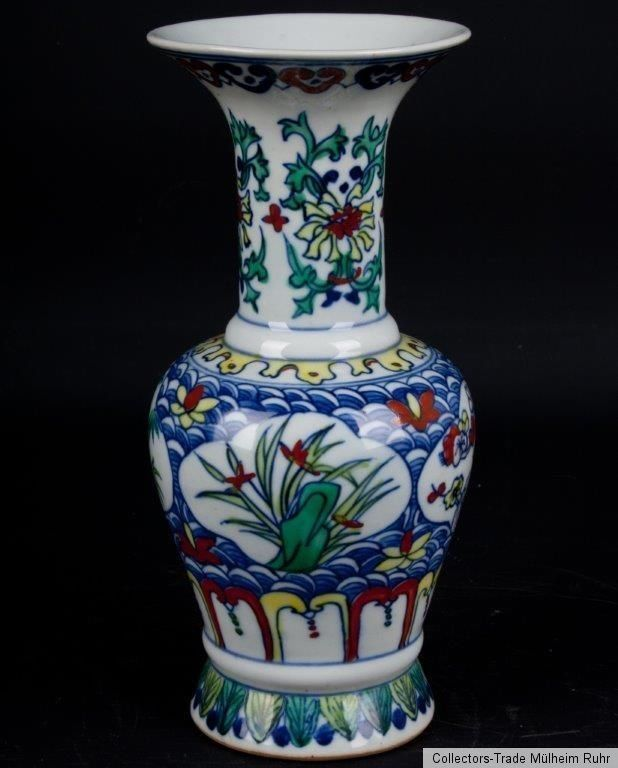 China 20. Jh. - A Chinese Porcelain Vase in Wucai Farben - Chinois Vaso Cinese