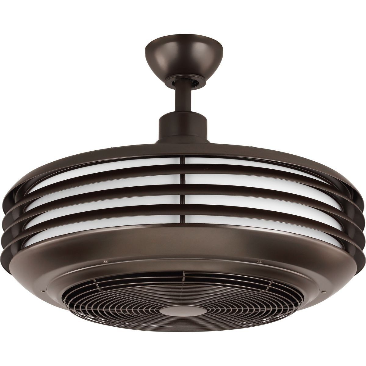 Sanford 24 Enclosed Indoor Outdoor Ceiling Fan With Led Light