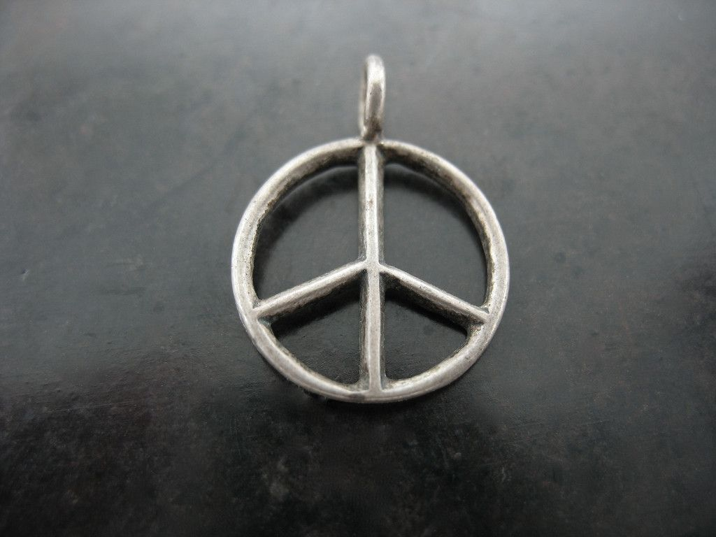 PEACE CHARM. Sterling Silver 15MM Diameter - Jelena Behrend Studio. On sale. #jelenabehrendstudio #jbsholidaygifts