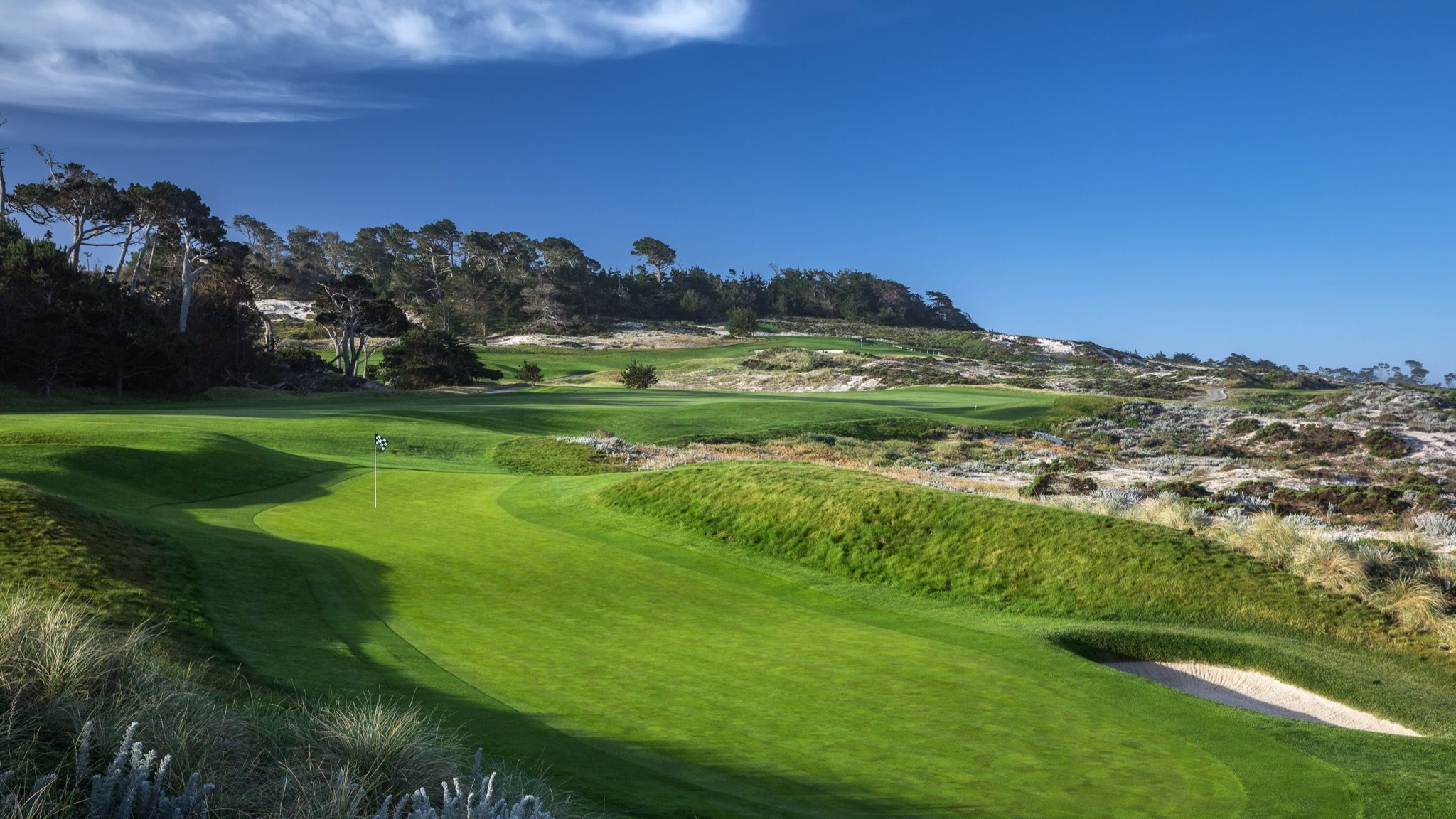 The Par 4 Fourth Hole Of Spyglass Hill Golf Course Pebble Beach California Golf Courses Public Golf Courses Golf