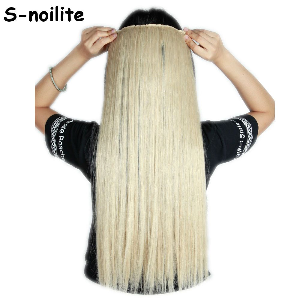 Dark Blonde Mix Bleach Blonde Long 26 Inches Straight 68cm 100 Real