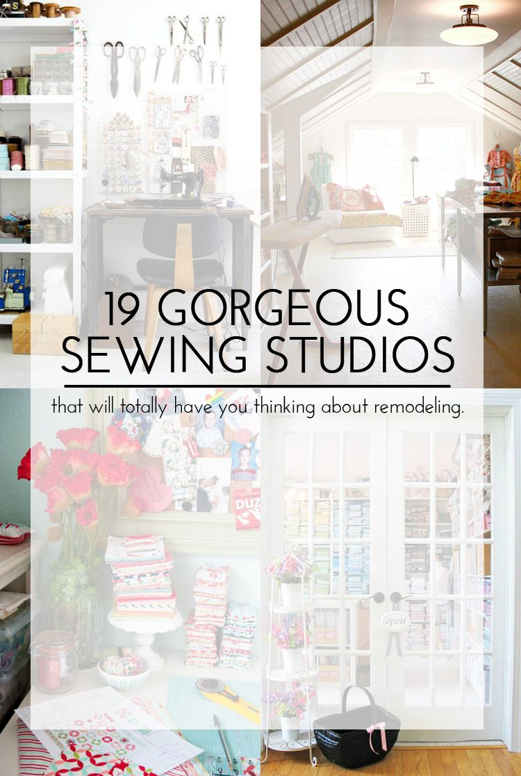 19 Gorgeous Sewing Studios || That Will Totally Have You Thinking About  Remodeling. Or