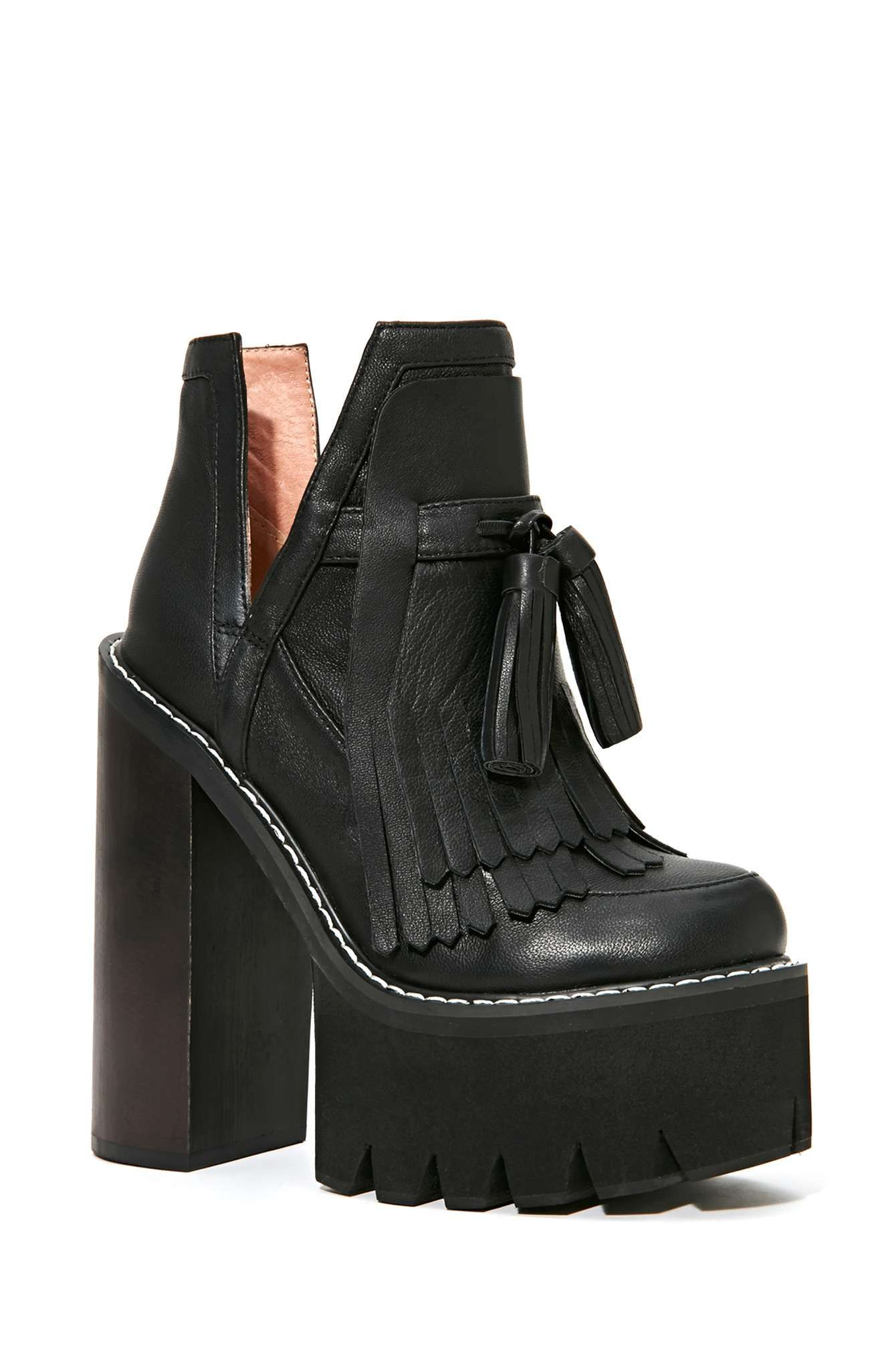 Jeffrey Campbell O-Quinn Platform Boot - Black | Shop Shoes at Nasty Gal