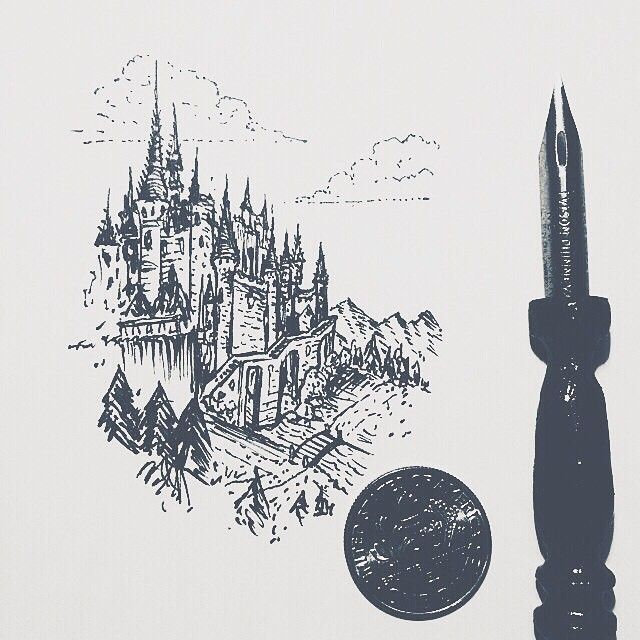Thieves of Tower, Nib sized castle. ✨