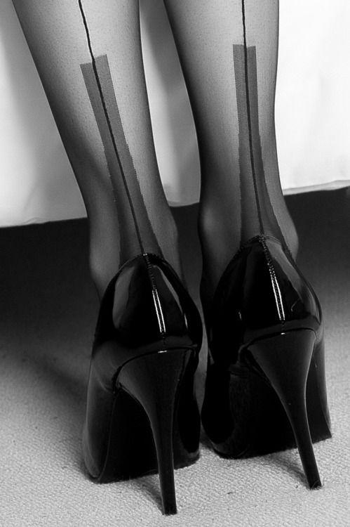 Garter belt high heels
