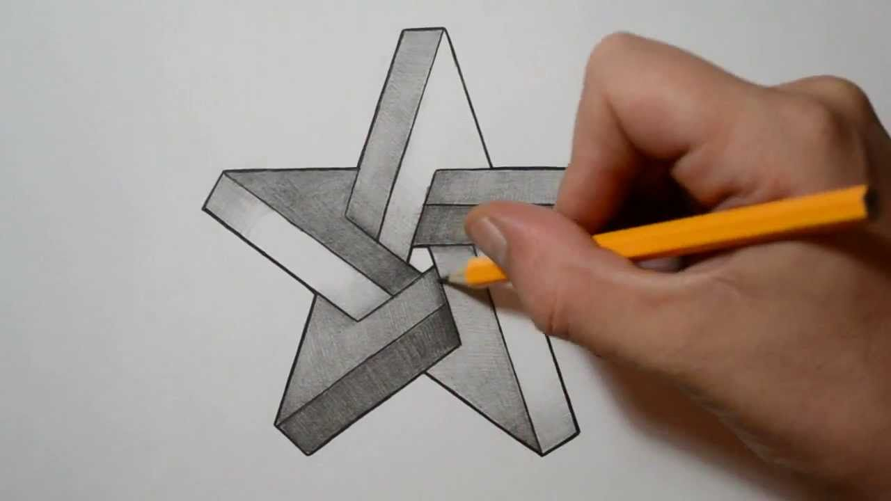 how to draw 3d optical illusions step by step