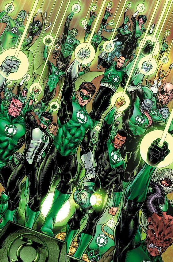 The Green Lantern Corps Heroes De Dc Comics Personajes De Dc Comics Linterna Verde