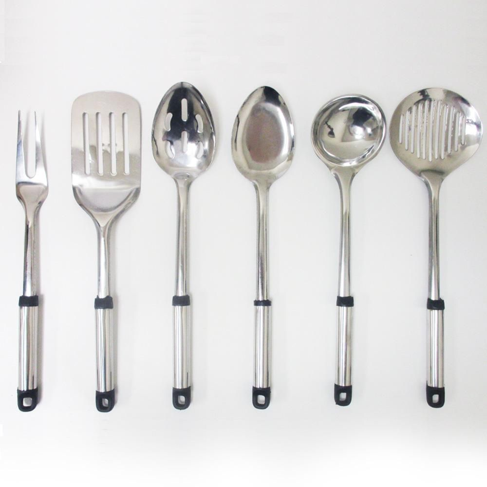 7 Piece Stainless Steel Serving Set Kitchen Cooking Utensil Tools ...